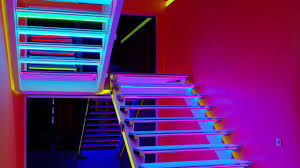 elegance glass stairs with led lights u2014 room decors and design