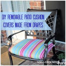 Cushion Covers For Patio Furniture - patio cushion covers made from drapes well groomed home