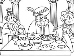 queen esther prepare dinner coloring pages queen esther prepare