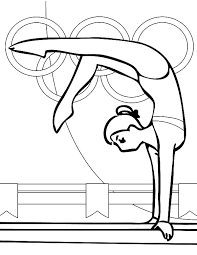 balance beam artistic gymnastics colouring colouring tube