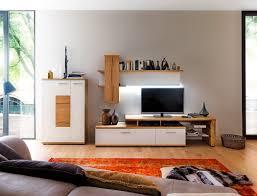 Wohnzimmerschrank Ohne Tv Fach Wohnwand Nina 21 Weiß Eiche 3 Teilig Medienwand Tv Wand Tv