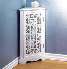 White Corner Storage Cabinet by Creative Bathroom Corner Storage Cabinet Brown Marble Table
