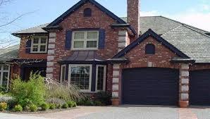 exterior house colors with brick interior design