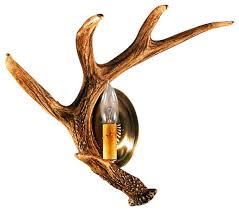 Antler Wall Sconce Faux Rustic Faux Whitetail Antler Wall Sconce Rustic Wall