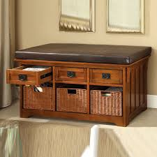 storage bench cushion treenovation with baskets and plan 10 best