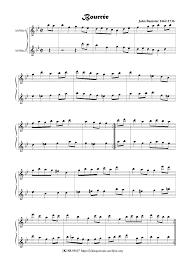 John Banister Bourrée Banister U0027the Younger U0027 John Imslp Petrucci Music