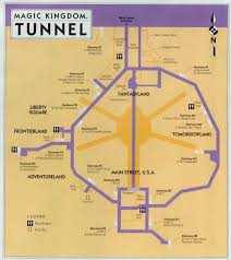 magic kingdom disney map the of tunnels beneath disney