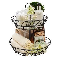 fruit basket stand 2 tier countertop basket holder decorative bowl stand sorbus