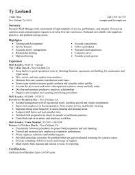 sample resume for hotel assistant general manager best resumes
