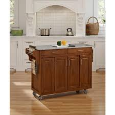 oak kitchen island with granite top home styles create a cart warm oak kitchen cart with black granite