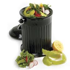 compost cuisine compostio black ceramic counter top compost pail