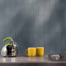 Picture Of Aspect Backsplashx Glass Tile In Storm Cloud Peel - Aspect backsplash tiles