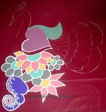 combination of colors vanathi u0027s rangoli art crafts beautiful peacock rangoli design