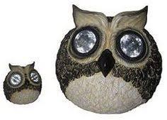 Owl Patio Lights Lightahead Solar Owl Windbell Light Solar Powered