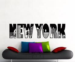 online get cheap ny wall decal aliexpress com alibaba group new york word logo wall sticker model ny city buildings skyline vinyl decal home boy room