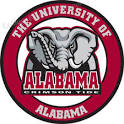 UNIVERSITY OF ALABAMA Elephant Logo Round Custom Made Wooden Sign ...