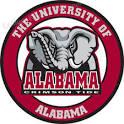 UNIVERSITY OF ALABAMA Elephant Logo Round Custom Made Wooden Sign ...