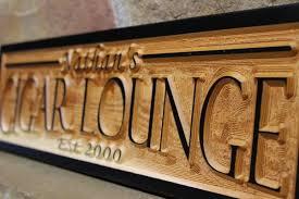 Personalized Wooden Gifts Custom Cigar Bar Sign Wedding Cigar Room Sign Rustic Cigar Sign