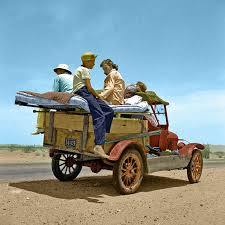Arizona travel to work images Dorothea lange color migratory family traveling across the desert jpg