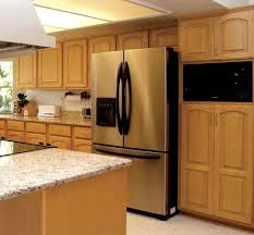 furniture kitchen cabinet refacing in brown with stainless steel