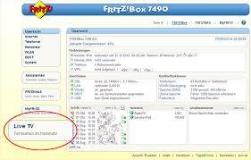 benutzeroberfläche fritz repeater fernsehen im fritz box heimnetz live tv fritz box 7270 avm