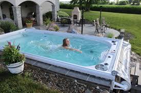 Spa in Swimming Pool