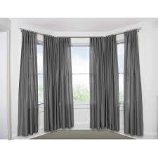 bay window double curtain rod canada full size