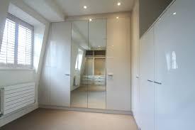 White Gloss Bedroom Furniture Bedroom Built In Bespoke Fitted Wardrobe White Push Open Modern