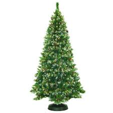 pre lit 7 5 frosted pine artificial tree 550 clear