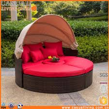 In Poly Rattan Sofa Sunbed Round Outdoor Furniture Set With - Round outdoor sofa 2
