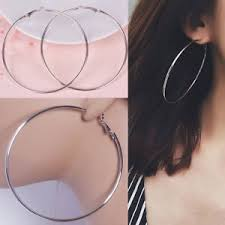 big hoop earrings large hoop earrings thin metal big hoops 10cm 8cm fashion gold