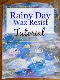 rainy day wax resist easy peasy art tutorial the unlikely