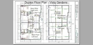 triplex house plans vista gardens