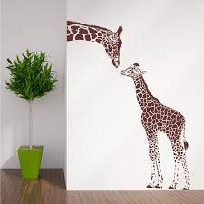 popular wall art baby buy cheap wall art baby lots from china wall zn n194 giraffe and baby giraffe wall sticker animals vinyl wall art nursery girl wall sticker