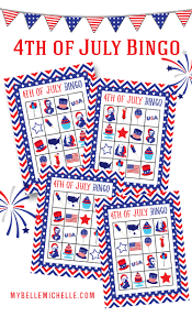 my belle michelle fun 4th of july bingo game printable