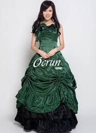 green satin gothic victorian dress cheap green satin