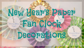nye party kits new year s paper fan clock decorations a nye party building