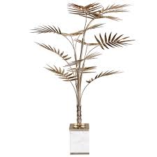 Floor Lamp Tree Branches European Ivete Gold Brass And Marble Palm Tree Floor Lamp Or
