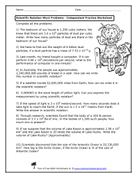 fillable online scientific notation word problems independent