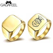 square rings jewelry images Gagafeel square ring luxury gold silver men rings engrave logo jpg