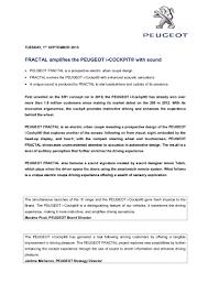 peugeot fractal peugeot fractal concept press release