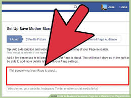 how to make a facebook page for a celebrity or organization
