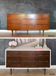 Modern Diy Furniture by How To Stain U0026 Paint Veneer Furniture Mid Century Modern Dresser
