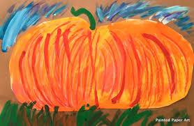 painted pumpkins u2013 painted paper art