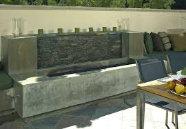 eye catcher patio landscape with modern outdoor fireplace designs