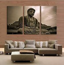 Buddha Home Decor Print Large Canvas Print Asia Religion Art Home Decor Print 3 Pce
