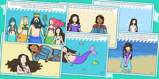 mermaid story cards stories book traditional