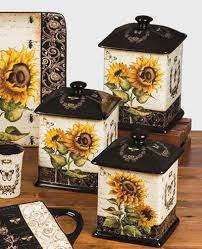 sunflower canisters for kitchen sunflowers canister set by certified international