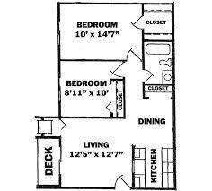 Floor Plan 2 Bedroom Apartment Apartments 750 Sq Ft Two Bedroom Pinterest Apartments