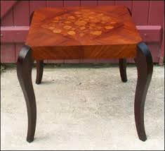 table basse bout de canapé table basse bout de canapé marqueterie 1940 50